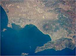 Naples by satellite